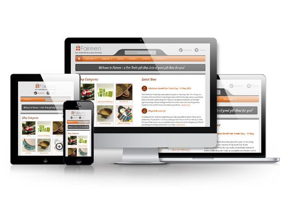 Faireen Website screen
