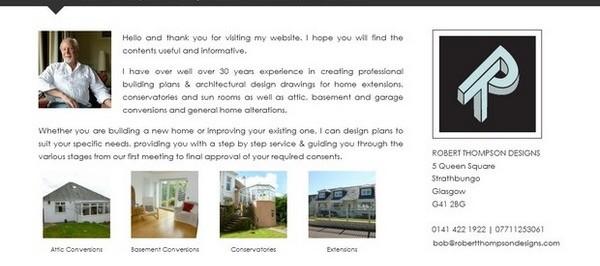 Robert Thompson Designs - Website