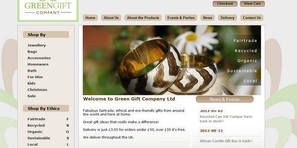 Green Gift Company website