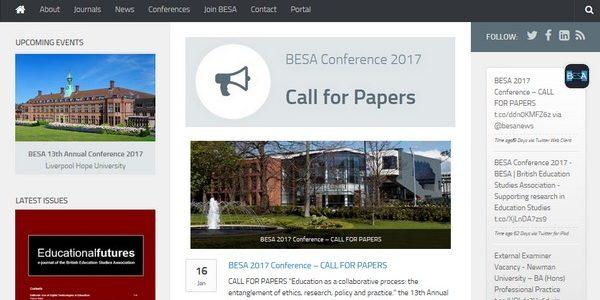 BESA website screenshot