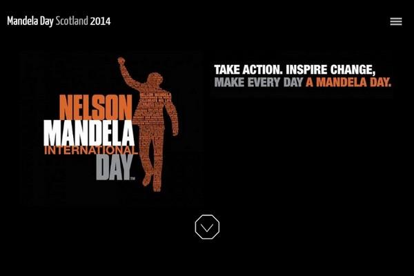 Screenshot of website - mandeladayscotland.org