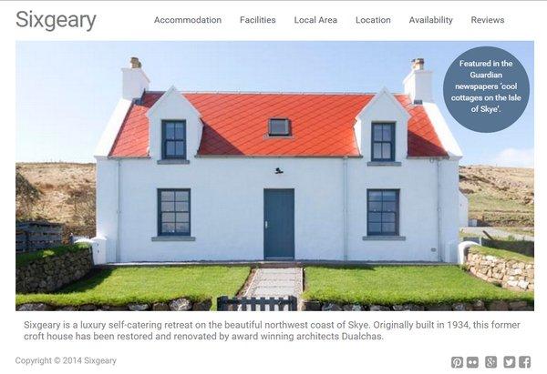screenshot of sixgeary.com homepage