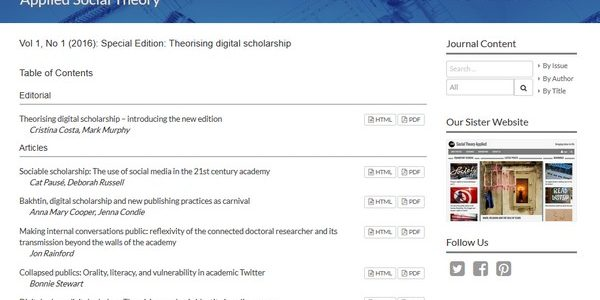 Social Theory Applied website screenshot