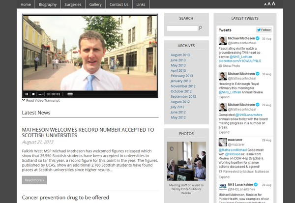 Michael Matheson MSP website