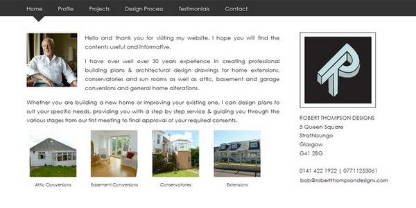 Robert Thompson Designs - Website