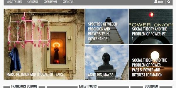 screenshot of social theory applied website