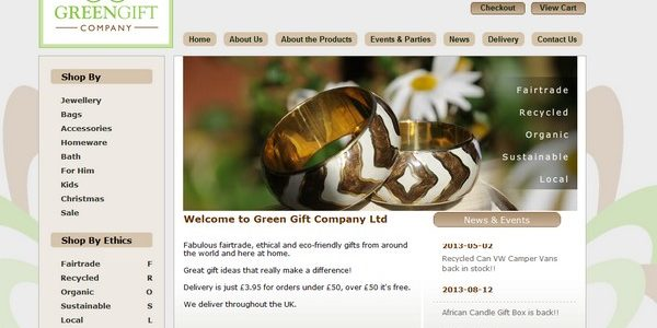 Green Gift Company website